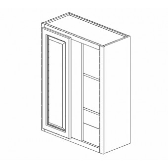 """24-27x30"""" Wall Blind Cabinet Creme White"""