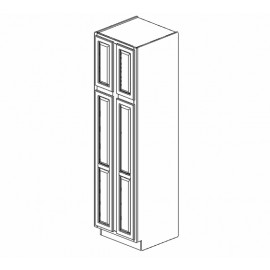 "24x84"" Wall Pantry Cabinet Expresso Traditional"