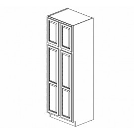 "30x90"" Wall Pantry Cabinet Expresso Traditional"
