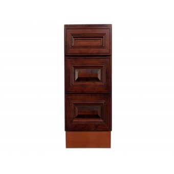 "12"" Vanity Cabinet with Drawers American Cherry"