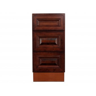 """15"""" Vanity Cabinet with Drawers American Cherry"""