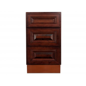 "18"" Vanity Cabinet with Drawers American Cherry"