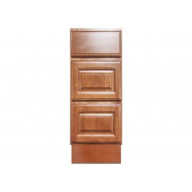 "12"" Vanity Cabinet with Drawers Beech Coffee"