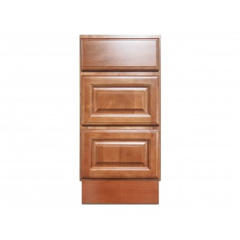 """15"""" Vanity Cabinet with Drawers Beech Coffee"""