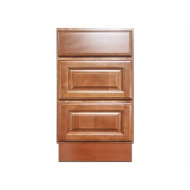 "18"" Vanity Cabinet with Drawers Beech Coffee"
