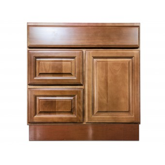 "30"" Vanity Cabinet with Left Drawers Beech Coffee"
