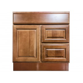 "30"" Vanity Cabinet with Right Drawers Beech Coffee"