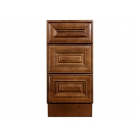 "15"" Vanity Cabinet with Drawers Chocolate Glaze"