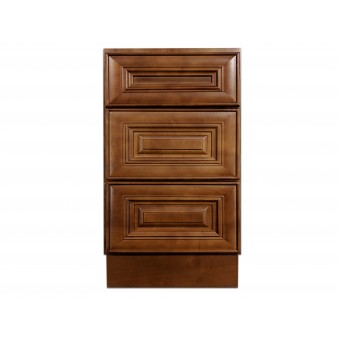 "18"" Vanity Cabinet with Drawers Chocolate Glaze"