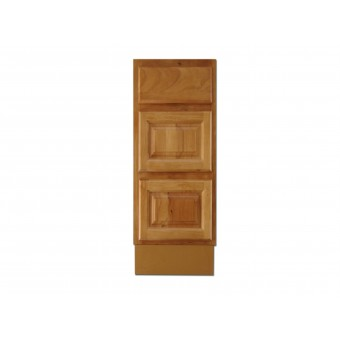 """12"""" Vanity Cabinet with Drawers Natural Oak"""