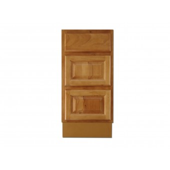 """15"""" Vanity Cabinet with Drawers Natural Oak"""