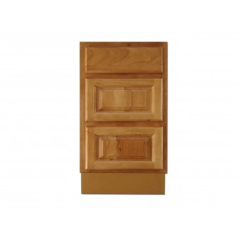 """18"""" Vanity Cabinet with Drawers Natural Oak"""