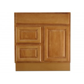 "30"" Vanity Cabinet with Left Drawers Natural Oak"