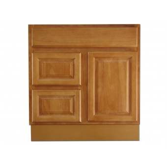 """30"""" Vanity Cabinet with Left Drawers Natural Oak"""