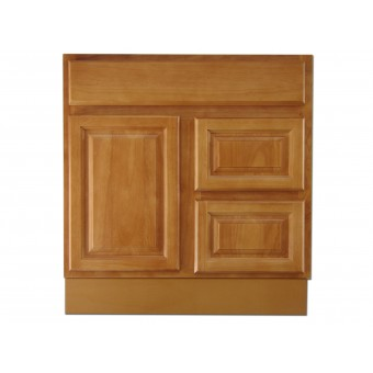 """30"""" Vanity Cabinet with Right Drawers Natural Oak"""