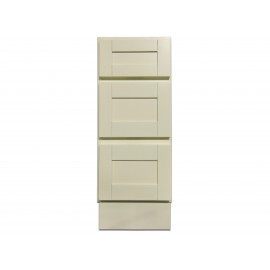 "12"" Vanity Cabinet with Drawers Creme White"