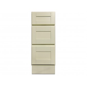 """12"""" Vanity Cabinet with Drawers Creme White"""