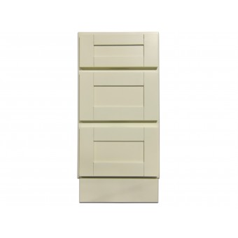 "15"" Vanity Cabinet with Drawers Creme White"