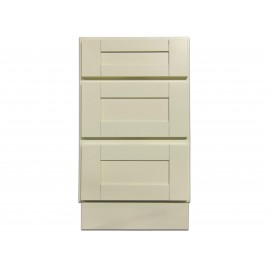 "18"" Vanity Cabinet with Drawers Creme White"