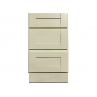 """18"""" Vanity Cabinet with Drawers Creme White"""