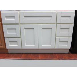 "48"" Vanity Cabinet with Drawers Creme White"
