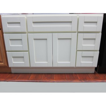 """48"""" Vanity Cabinet with Drawers Creme White"""