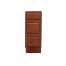 "12"" Vanity Cabinet with Drawers Traditional Cherry"