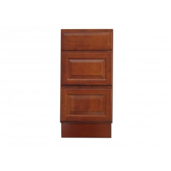 """15"""" Vanity Cabinet with Drawers Traditional Cherry"""