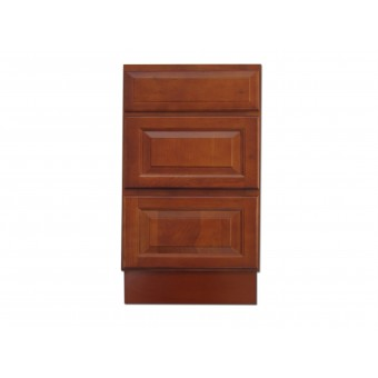 "18"" Vanity Cabinet with Drawers Traditional Cherry"