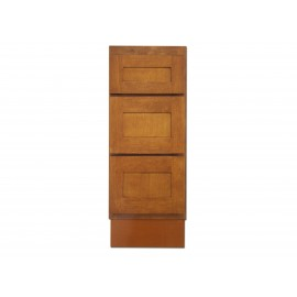 "12"" Vanity Cabinet with Drawers Honey Oak"