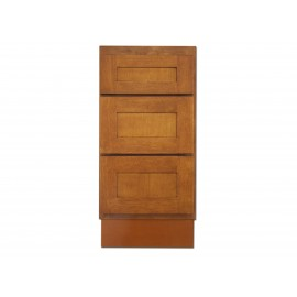 "15"" Vanity Cabinet with Drawers Honey Oak"