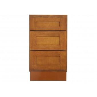 "18"" Vanity Cabinet with Drawers Honey Oak"
