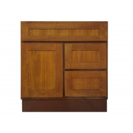 "30"" Vanity Cabinet with Right Drawers Honey Oak"