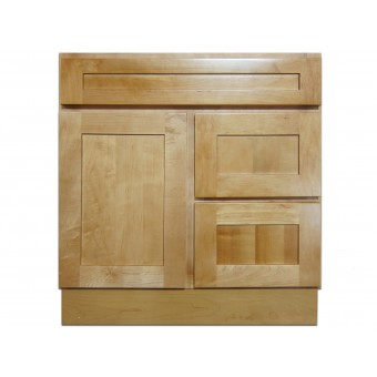 """30"""" Vanity Cabinet with Right Drawers Elegant Maple"""