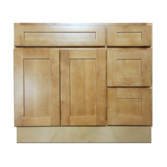 """36"""" Vanity Cabinet with Right Drawers Elegant Maple"""