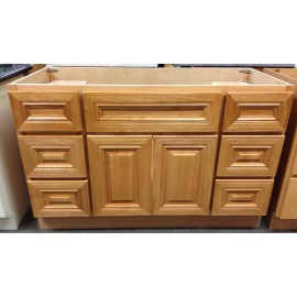 """60"""" Vanity Cabinet with Drawers Square Oak"""