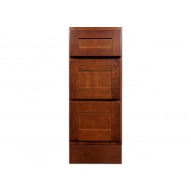 "12"" Vanity Cabinet with Drawers Elegant Cherry"