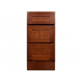 "15"" Vanity Cabinet with Drawers Elegant Cherry"