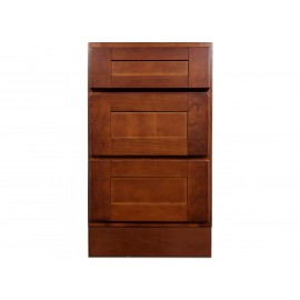 "18"" Vanity Cabinet with Drawers Elegant Cherry"