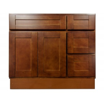 "36"" Vanity Cabinet with Right Drawers Elegant Cherry"
