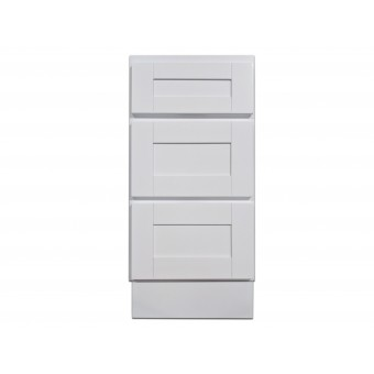 "15"" Vanity Cabinet with Drawers Super White"