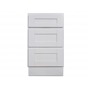 """18"""" Vanity Cabinet with Drawers Super White"""
