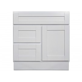 "30"" Vanity Cabinet with Left Drawers Super White"