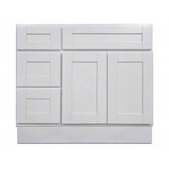 """36"""" Vanity Cabinet with Left Drawers Super White"""