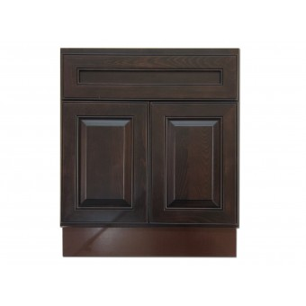"""27"""" Vanity Cabinet Expresso Traditional"""