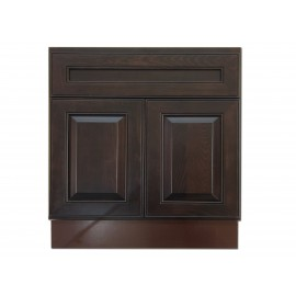 "30"" Vanity Cabinet Expresso Traditional"