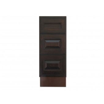 "12"" Vanity Cabinet with Drawers Expresso Traditional"