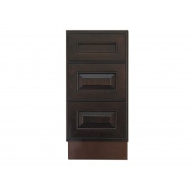 "15"" Vanity Cabinet with Drawers Expresso Traditional"