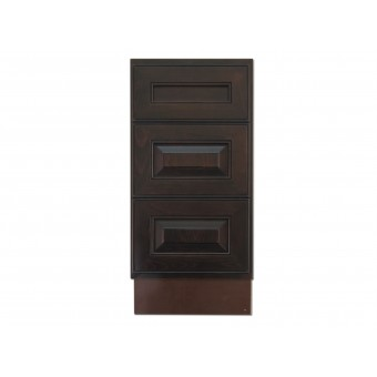 """15"""" Vanity Cabinet with Drawers Expresso Traditional"""