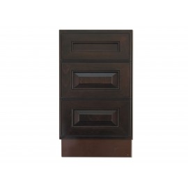 "18"" Vanity Cabinet with Drawers Expresso Traditional"